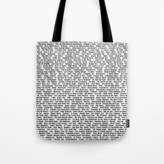 Crazy Fantastic Dirty Wine List Tote Bag
