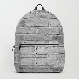 gray distressed painted brick wall ambient decor rustic brick effect Backpack