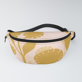 Wildflowers Large- Pink and Gold Fanny Pack
