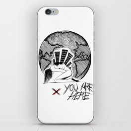 You Are (-_not-) Here iPhone Skin