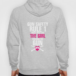 Gun Safety Funny Graphic T-shirt Hoody
