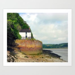 Dylan Thomas.The Boathouse. Art Print