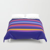 hamburger Duvet Covers featuring Abstract Hamburger by Betty Mackey