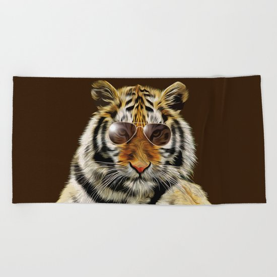 In the Eye of the Tiger Beach Towel