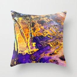 Textured Paint in Royal Splendor Throw Pillow