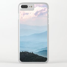 Smoky Mountain National Park Sunset Layers - Nature Photography Clear iPhone Case