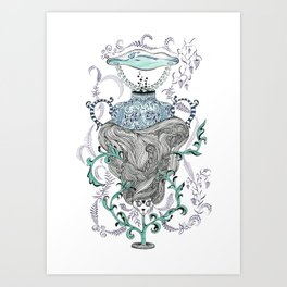 Cat went to the hairdresser. Art Print