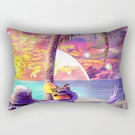 Poison Dart Arrow Frog On Space Beach Rectangular Pillow