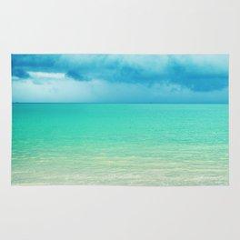 Blue Turquoise Tropical Sandy Beach Rug