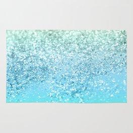 Seafoam Aqua Ocean MERMAID Girls Glitter #1 #shiny #decor #art #society6 Rug