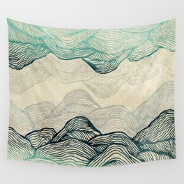 Crash Into Me Waves Wall Tapestry