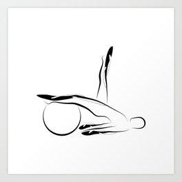 Abstract Pilates pose Art Print
