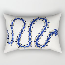 Navy & Gold Serpent Rectangular Pillow