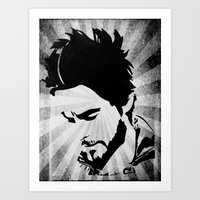 jared leto Art Prints featuring Jared Leto by Emma Porter