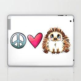 Peace, Love and Hedgehogs Laptop & iPad Skin