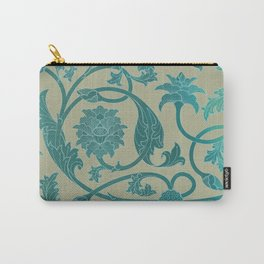 Blue Lotus Pattern Carry-All Pouch