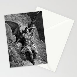 Gustave Dore - Paradise Lost Satan Profile Stationery Cards