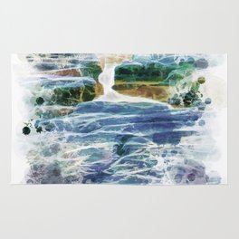 Abstract rock pool in the rough rocks Rug