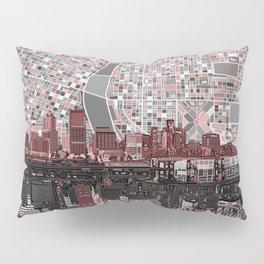 portland city skyline Pillow Sham