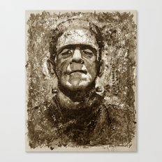 The Creature - Sepia Version Canvas Print