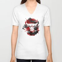 chicago bulls V-neck T-shirts featuring Bulls Splatter by OhMyGod, SoGood!