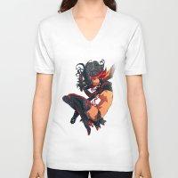 kill la kill V-neck T-shirts featuring Kill La Kill by Mikuloctopus