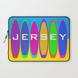 Jersey Surfboards on the Beach Laptop Sleeve