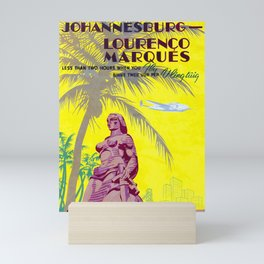Johannesburg - Lourenco Marques  - Vintage South African Travel Poster Mini Art Print