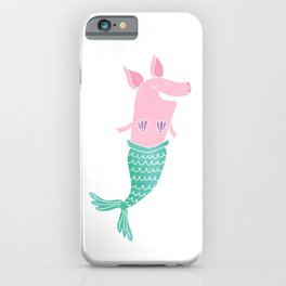 Mermaid Pig iPhone Case