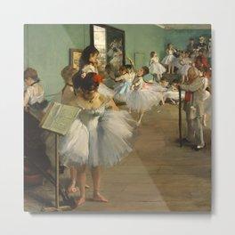 The Dance Class, Edgar Degas  Metal Print