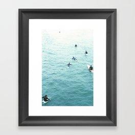 surf's up. Framed Art Print