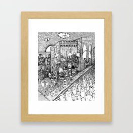 Psychological Dump Framed Art Print
