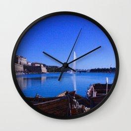Boats in Palma Wall Clock