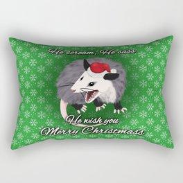 Christmas Opossum Rectangular Pillow