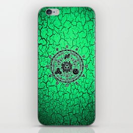 Green Circle Of Triangle iPhone Skin