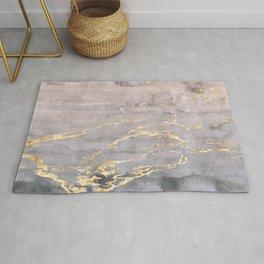 Watercolor Gradient Gold Foil IV Rug