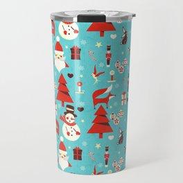 Christmas icons illustration Travel Mug