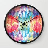 boho Wall Clocks featuring Boho by Marta Olga Klara