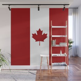 Canada: Canadian Flag (Red & White) Wall Mural