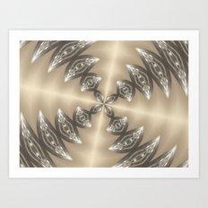 Shimmering Golden Kaleidoscope Art Print