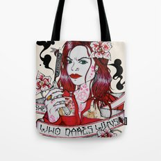 She Who Dares, Wins. Tote Bag
