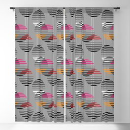 Striped baubles Blackout Curtain
