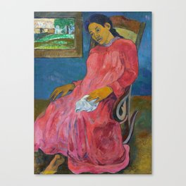 Faaturuma (Melancholic) by Paul Gauguin Canvas Print