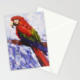 Scarlet Macaw /// by Olga Bartysh Stationery Cards