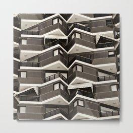 Balconies Pattern Metal Print