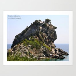 St. John Skopelos island greece, Mamma Mia Kirche, Mamma Mia church, Mamma Mia wedding Art Print
