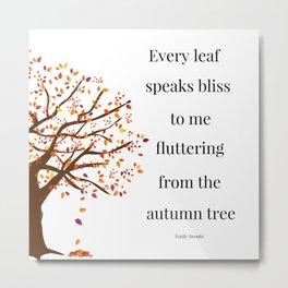 Falling Leaves - Autumn Tree Metal Print