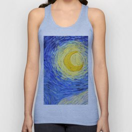 "Vincent Van Gogh "" Starry Night "" , Partial expansion Unisex Tank Top"