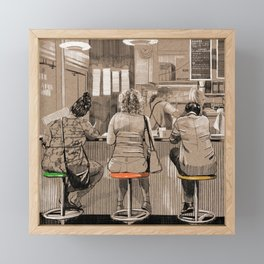 Daily life Framed Mini Art Print
