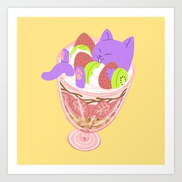 Parfait Cat Art Print